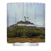 Picket Post Windmill Shower Curtain
