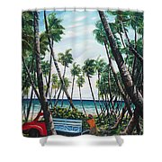 Picking Coconuts .. Mayaro Shower Curtain