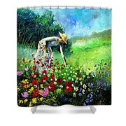 Picking Flower Shower Curtain