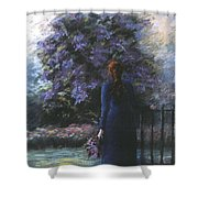 Picking Lilacs Shower Curtain
