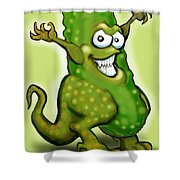 Pickle Monster Shower Curtain