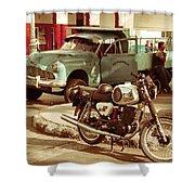 Pickup Bike  Shower Curtain