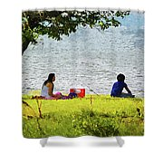 Picnic And Fishing Shower Curtain