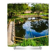 Picnic Area In The Marnel River I Shower Curtain