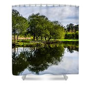 Picnic Area In The Marnel River IIi Shower Curtain