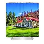 Picnic At Skippers School Shower Curtain