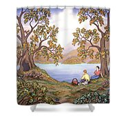 Picnic By A Lake Shower Curtain