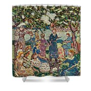 Picnic By The Inlet Shower Curtain