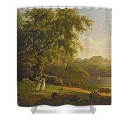Picnic By The Lake Shower Curtain