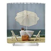 Picnic, California Coast Shower Curtain