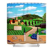 Picnic In Tuscany Shower Curtain