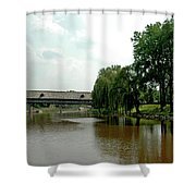 Picnic On The Bavarian Lawn Shower Curtain
