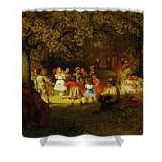 Picnic Party In The Woods Shower Curtain