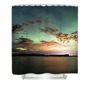 Picnic Point Aurora 180 Degree Pano, May 28, 2017 Shower Curtain