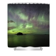 Picnic Point Aurora Pano, May 28, 2017 Shower Curtain