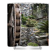 Pictueresque Waterwheel In Cinqueterre Garden Shower Curtain
