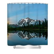 Picture Lake At Night Shower Curtain
