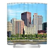 Picture Perfect Pittsburgh Panoramic Shower Curtain