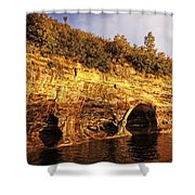 Pictured Rocks Caves Shower Curtain