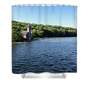 Pictured Rocks Lighthouse Shower Curtain