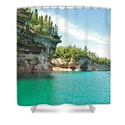 Pictured Rocks Shower Curtain
