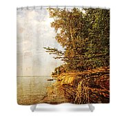 Pictured Rocks Water Shower Curtain