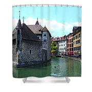 Picturesque Annecy, France Shower Curtain