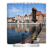 Picturesque City Of Gdansk In Poland Shower Curtain