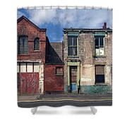 Picturesque Derelict Houses In Hull England Shower Curtain