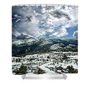 Picturesque Mountain Landscape Shower Curtain