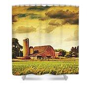 Picturesque North Dakota Farm Shower Curtain