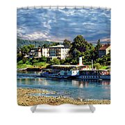 Picturesque River Cruise Shower Curtain