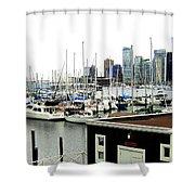 Picturesque Vancouver Harbor Shower Curtain