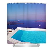 Piece Of Mediterranean Paradise Shower Curtain