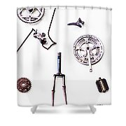 Pieces And Parts Shower Curtain