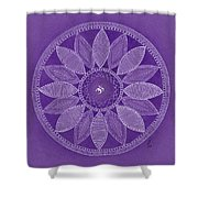 Pieces In Purple Shower Curtain