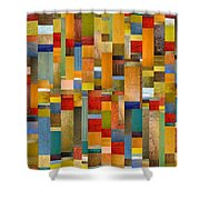 Pieces Parts Shower Curtain by Michelle Calkins