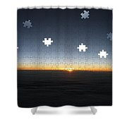 Piecing  Together A New Day Shower Curtain