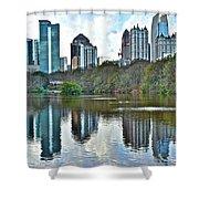 Piedmont Park Atlanta Reflection Shower Curtain