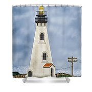 Piedras Blancas Lighthouse In California Shower Curtain