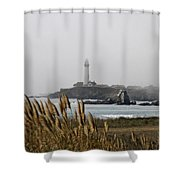Piegeon Point Lighthouse Shower Curtain