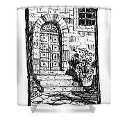 Pienza Corso Rossellino Italy Shower Curtain