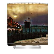 Pier 39 In San Francisco  Shower Curtain