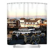 Pier 39 Panorama Shower Curtain