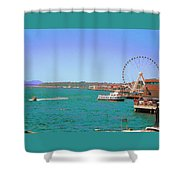 Pier 56 Action Shower Curtain