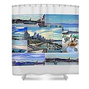 Pier 66 Collage Shower Curtain