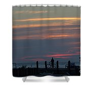 Pier A Long Way Out 4 Shower Curtain