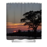 Pier A Long Way Out 5 Shower Curtain