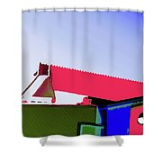 Pier Abstraction Shower Curtain