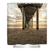 Pier And Clouds Shower Curtain